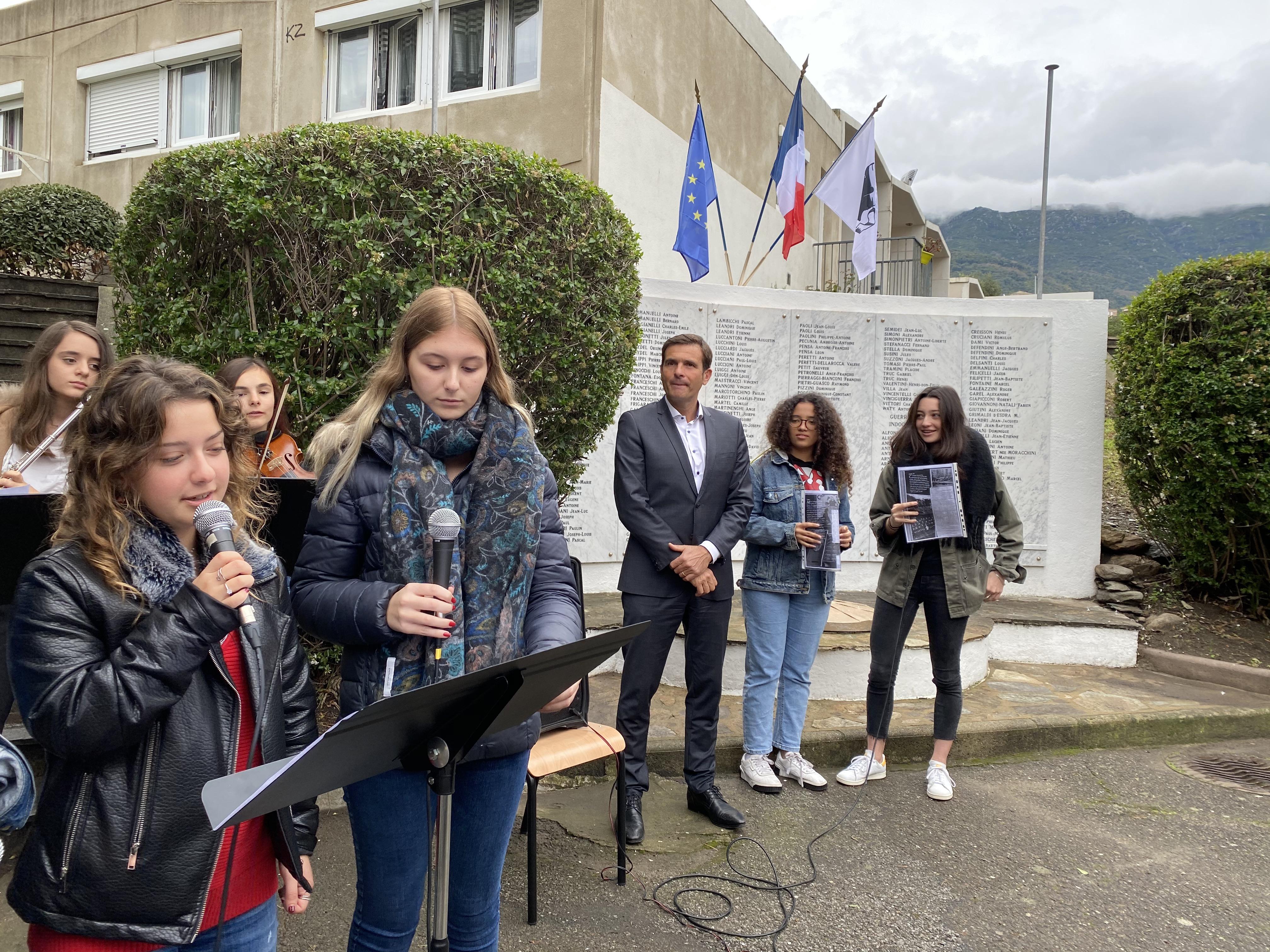 Les lycéens de Giocante de Casabianca commémorent la Grande Guerre.