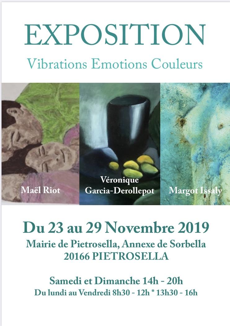 """""""Vibrations, émotions, couleurs"""".  Trois amies exposent à la mairie de Pietrosella"""