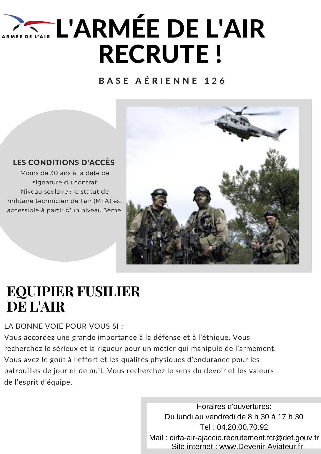 Ajaccio : l'armée de l'air recrute