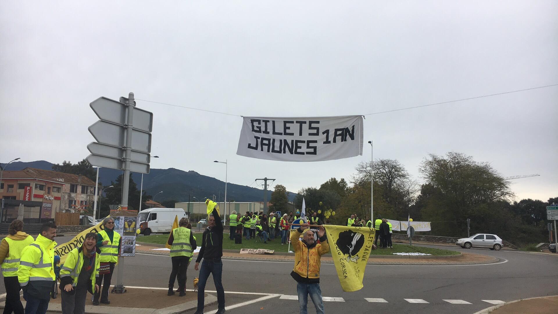 Vescovato : Un an après, les Gilets Jaunes sont toujours là