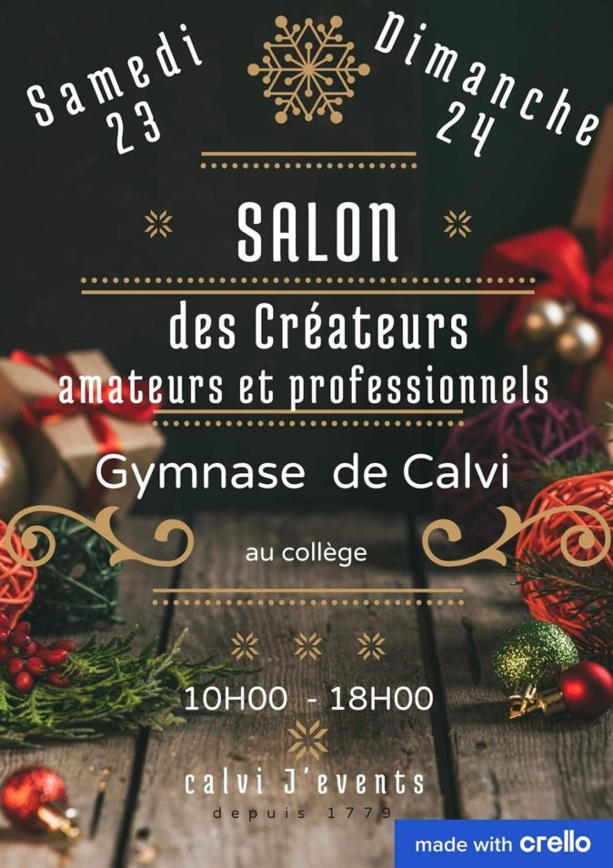 Le Salon des créateurs 2019 aura lieu au gymnase de Calvi
