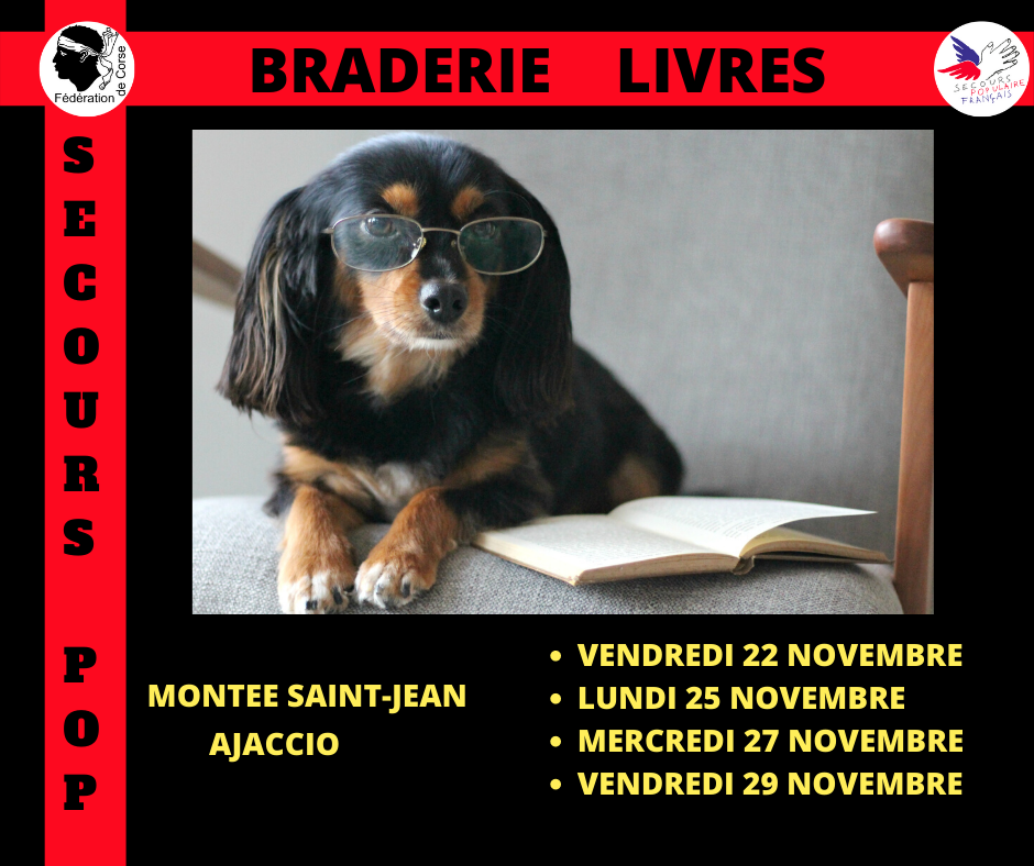 Ajaccio : découvrez les dates des braderies de livres du Secours Populaire