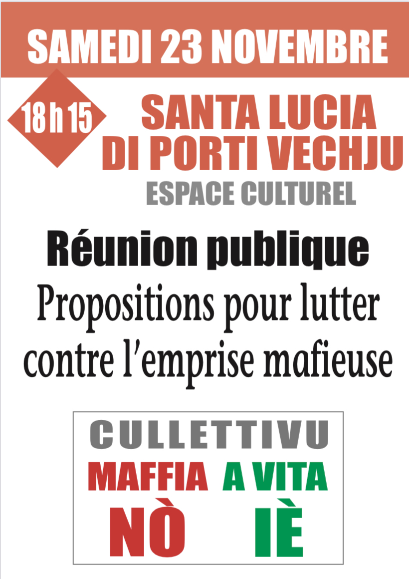 Mafia No vita Ié : Une réunion à Sainte Lucie de Porto-Vecchio