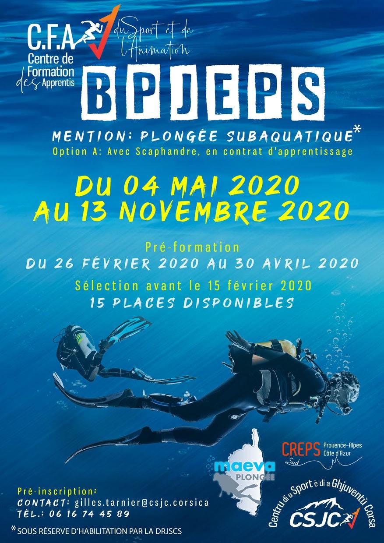 Formation : Un BPJEPS Plongée subaquatique en 2020 à Ajaccio