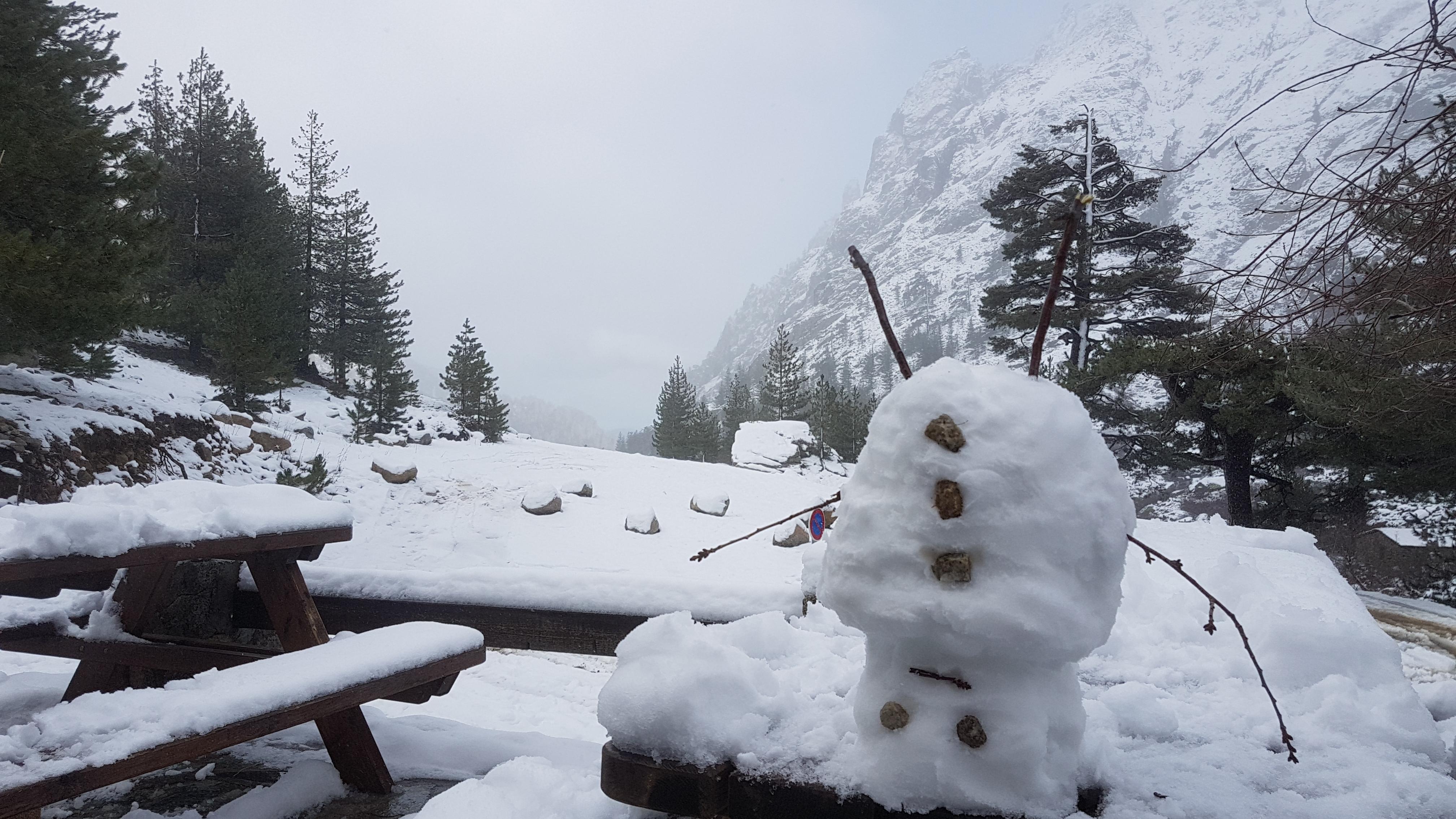 La photo du jour : E Grotelle sous la neige