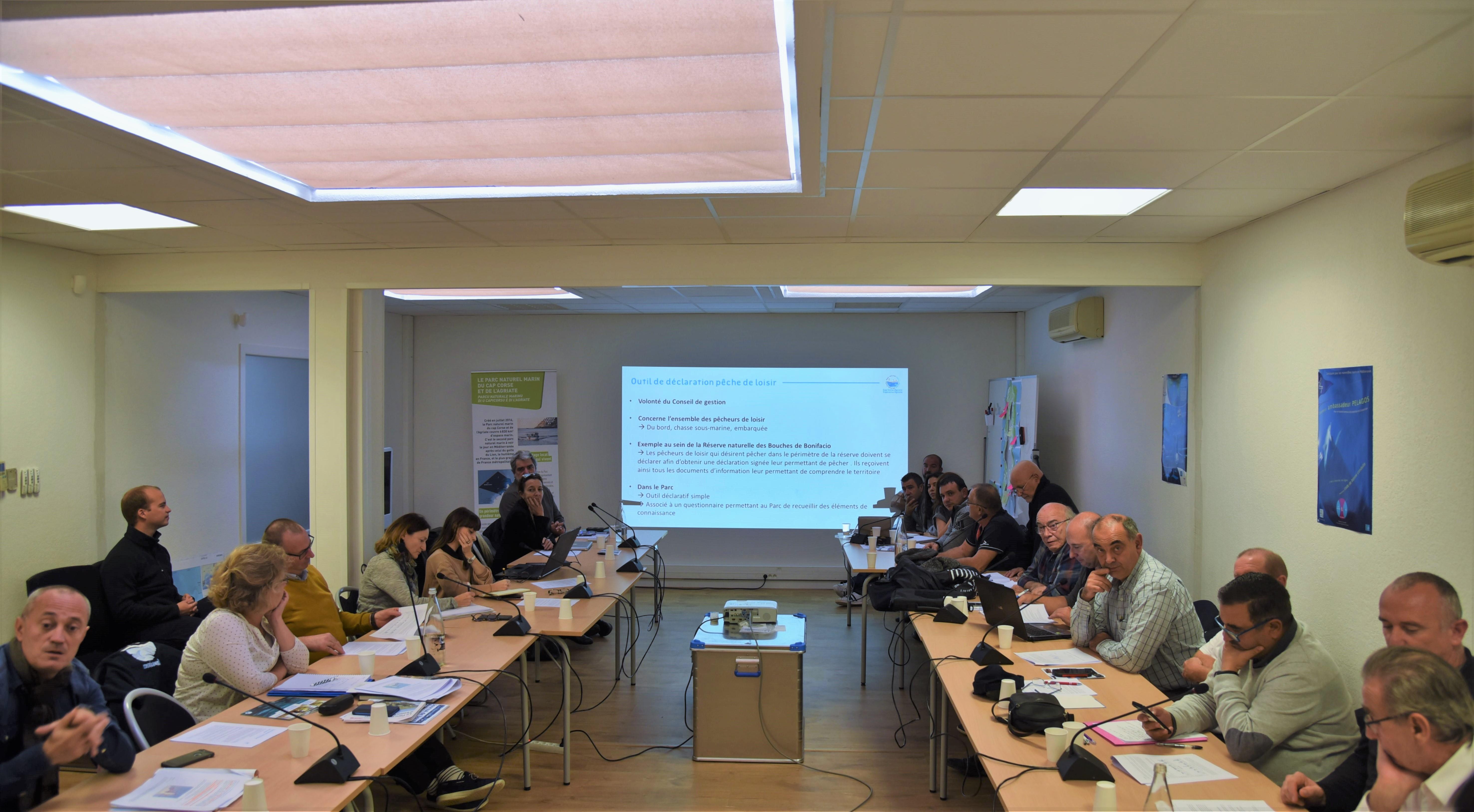 Parc naturel marin du Cap Corse et de l'Agriate : la commission halieutique au travail
