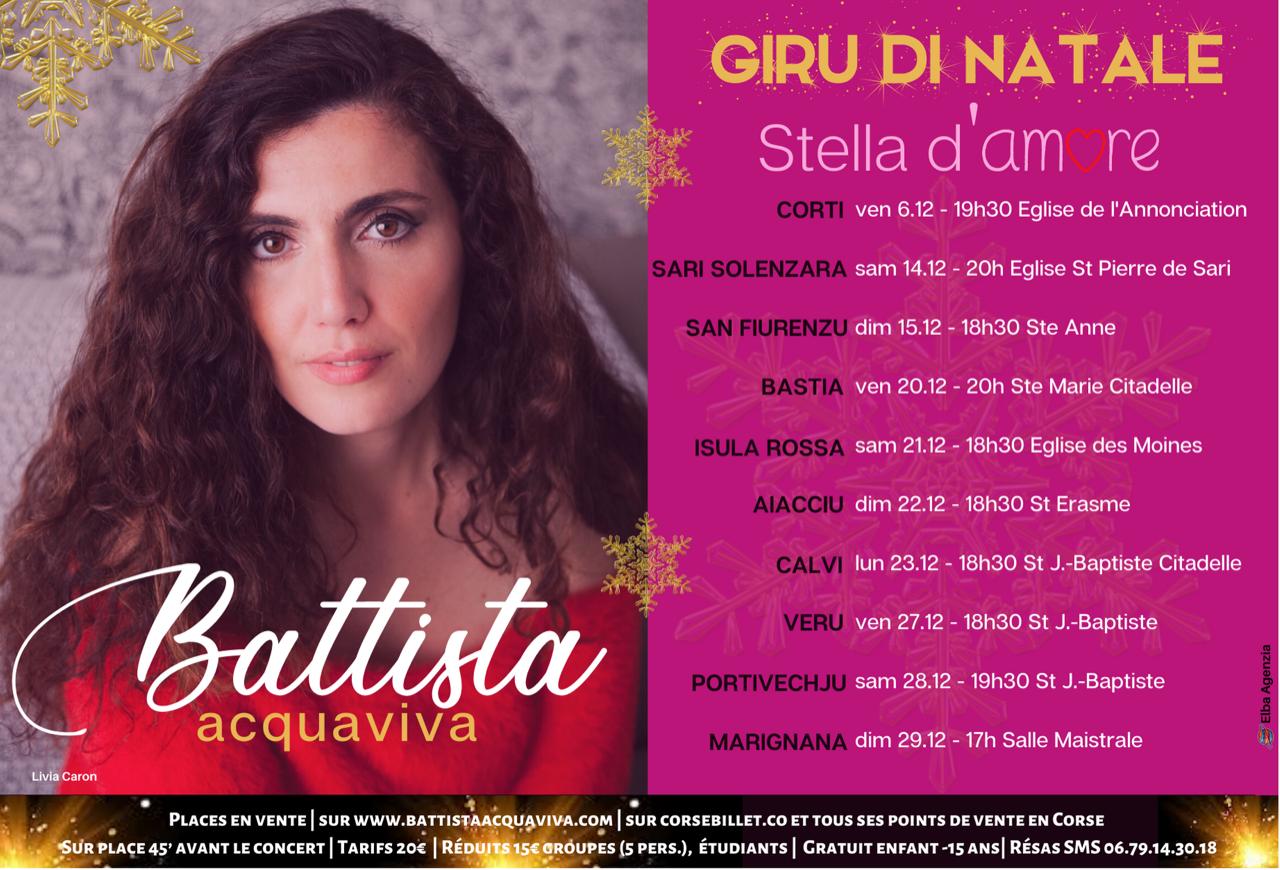 Stella d'amore : la tournée de Noël de Battista Acquaviva