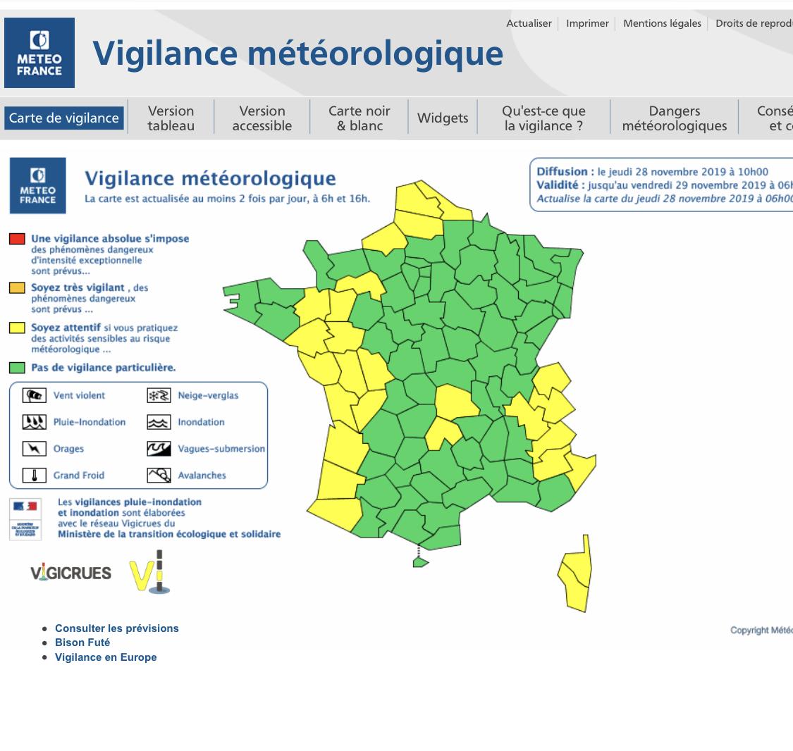 Météo : La Corse en vigilance jaune vent fort