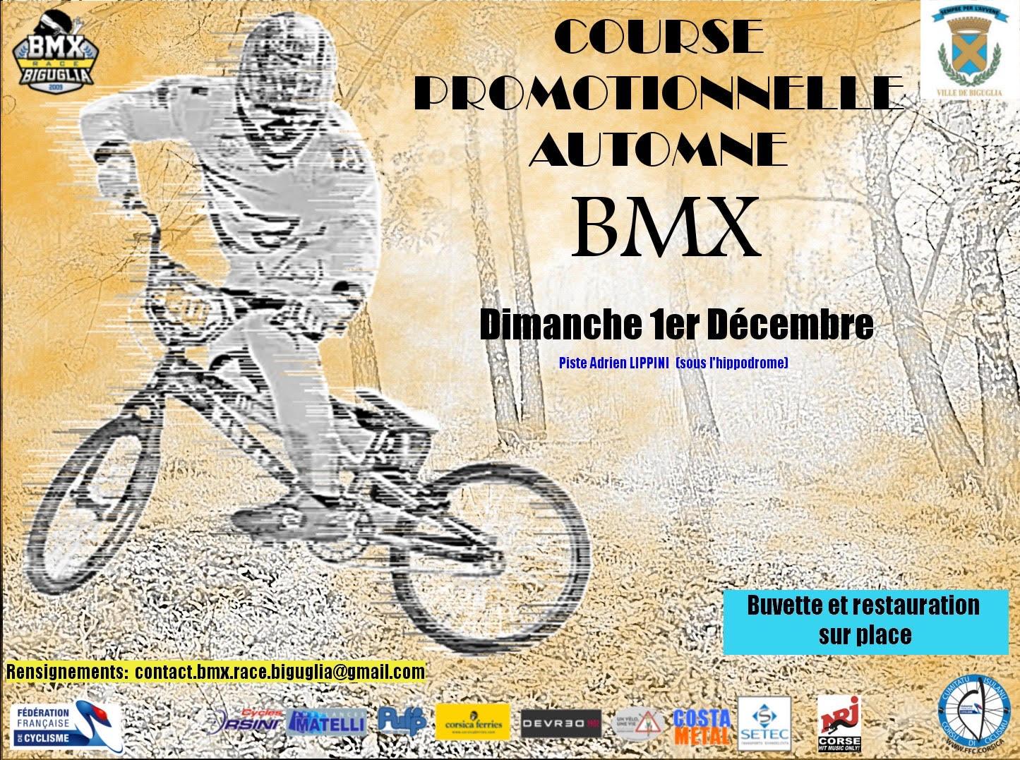 Le Club BMX de Biguglia organise une course ce 1 décembre
