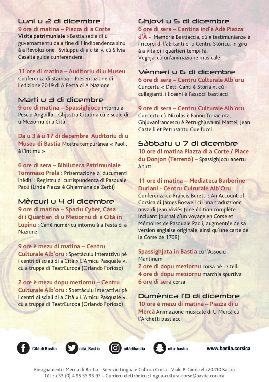 """Bastia : """"Paoli à l'intimu"""" per A Festa di a Nazione"""