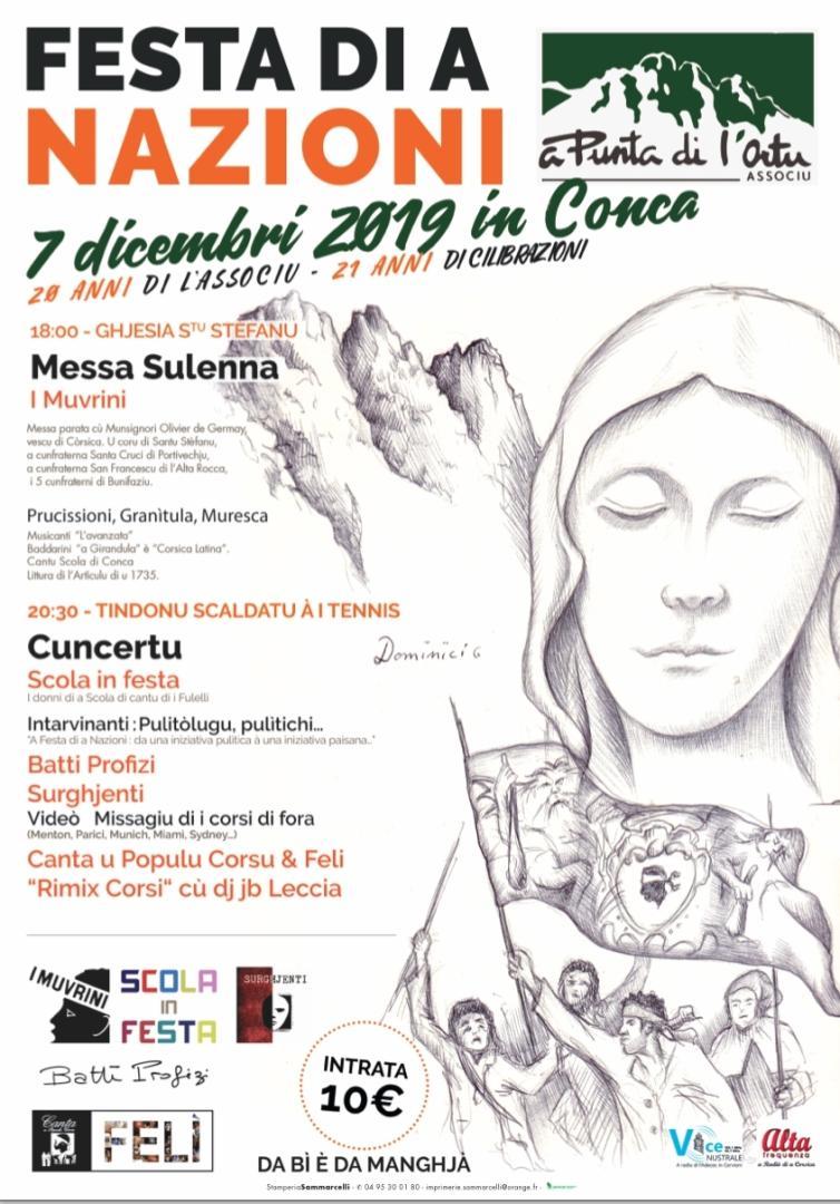 Conca : Una Festa di A Nazione sous le signe des anniversaires