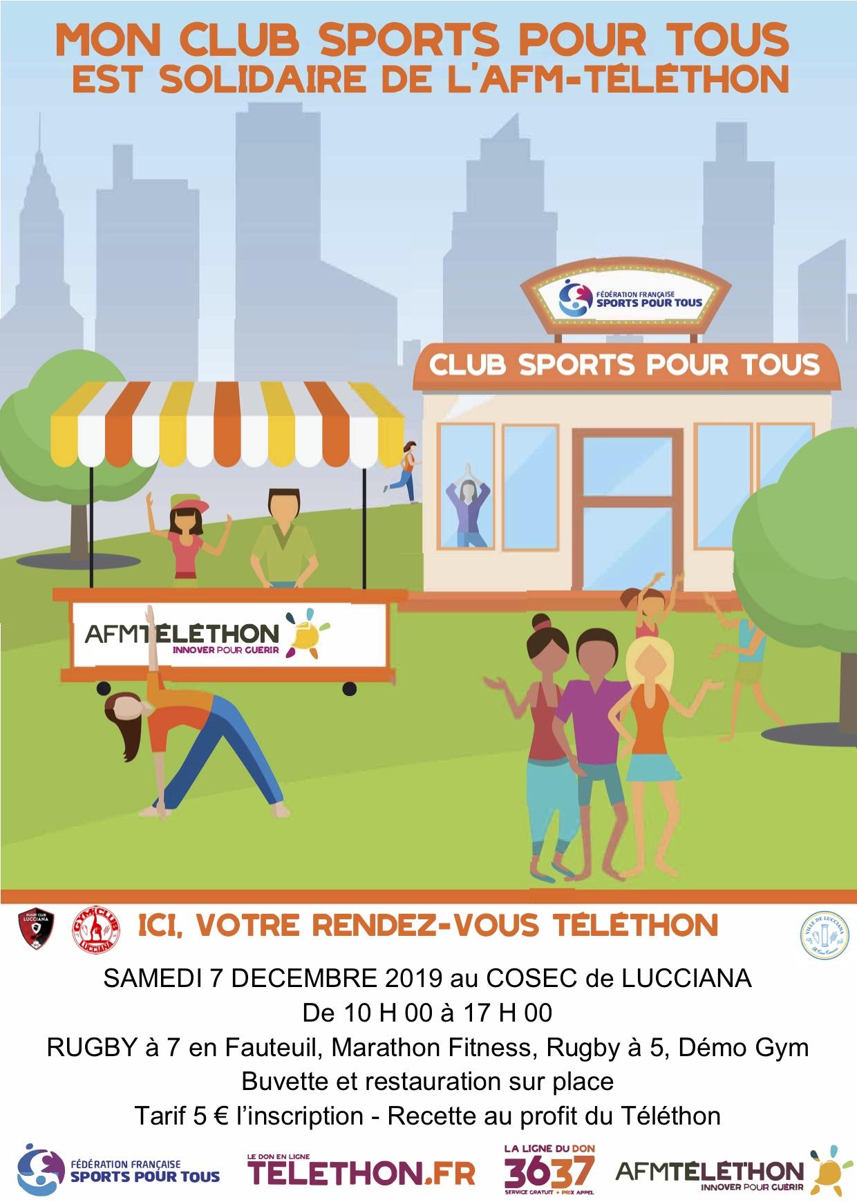 Le Rugby Club Lucciana et le Gym Club Lucciana se mobilisent pour le Téléthon