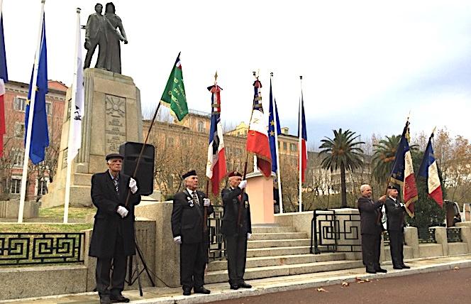 Hommage  aux « morts pour la France » pendant la guerre d'Algérie et les combats du Maroc et de la Tunisie