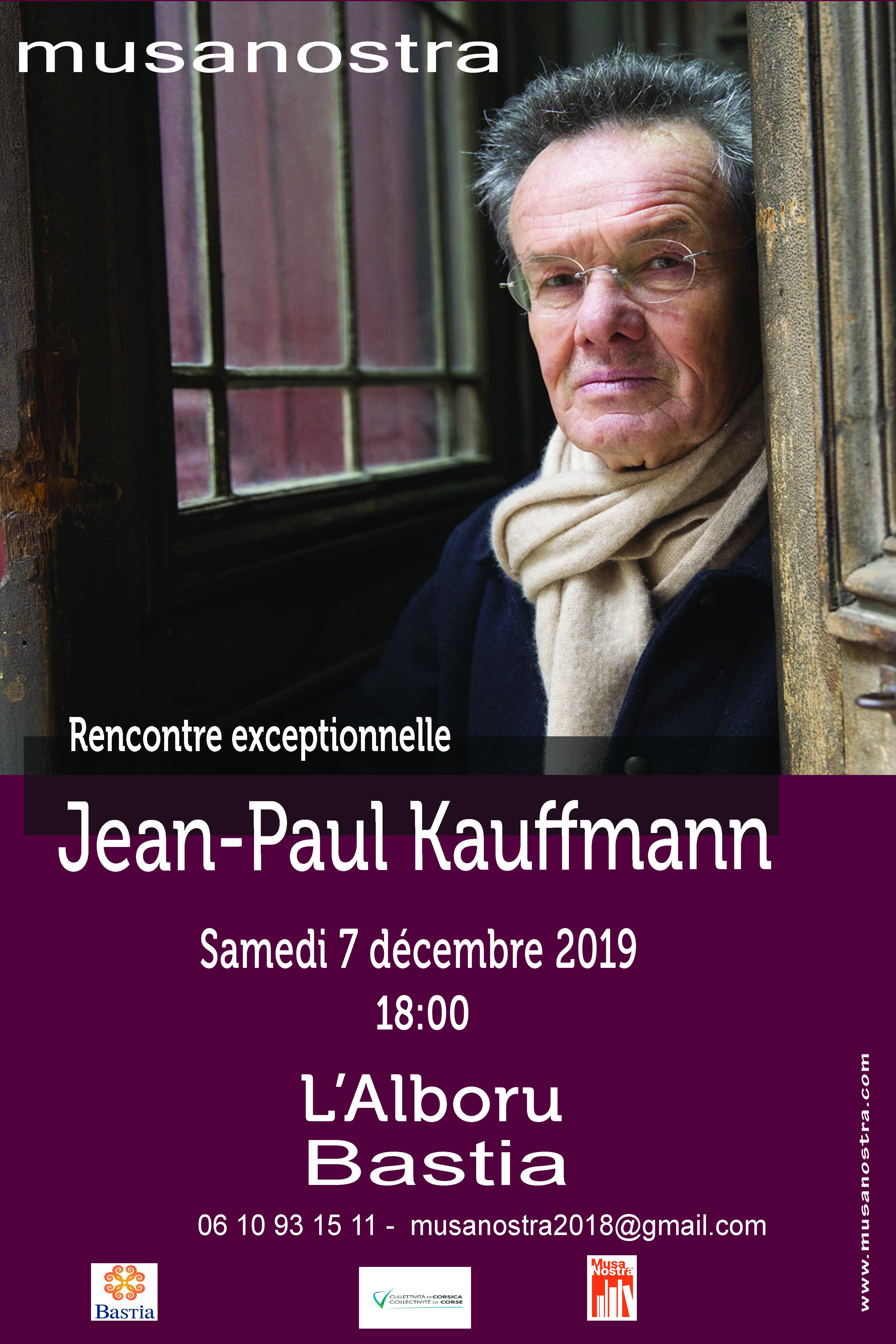 Jean-Paul Kauffmann ce samedi à l'Alb'Oru de Bastia