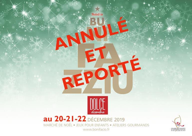 Natali in Bunifazziu reporté au 20, 21 et 22 décembre 2019