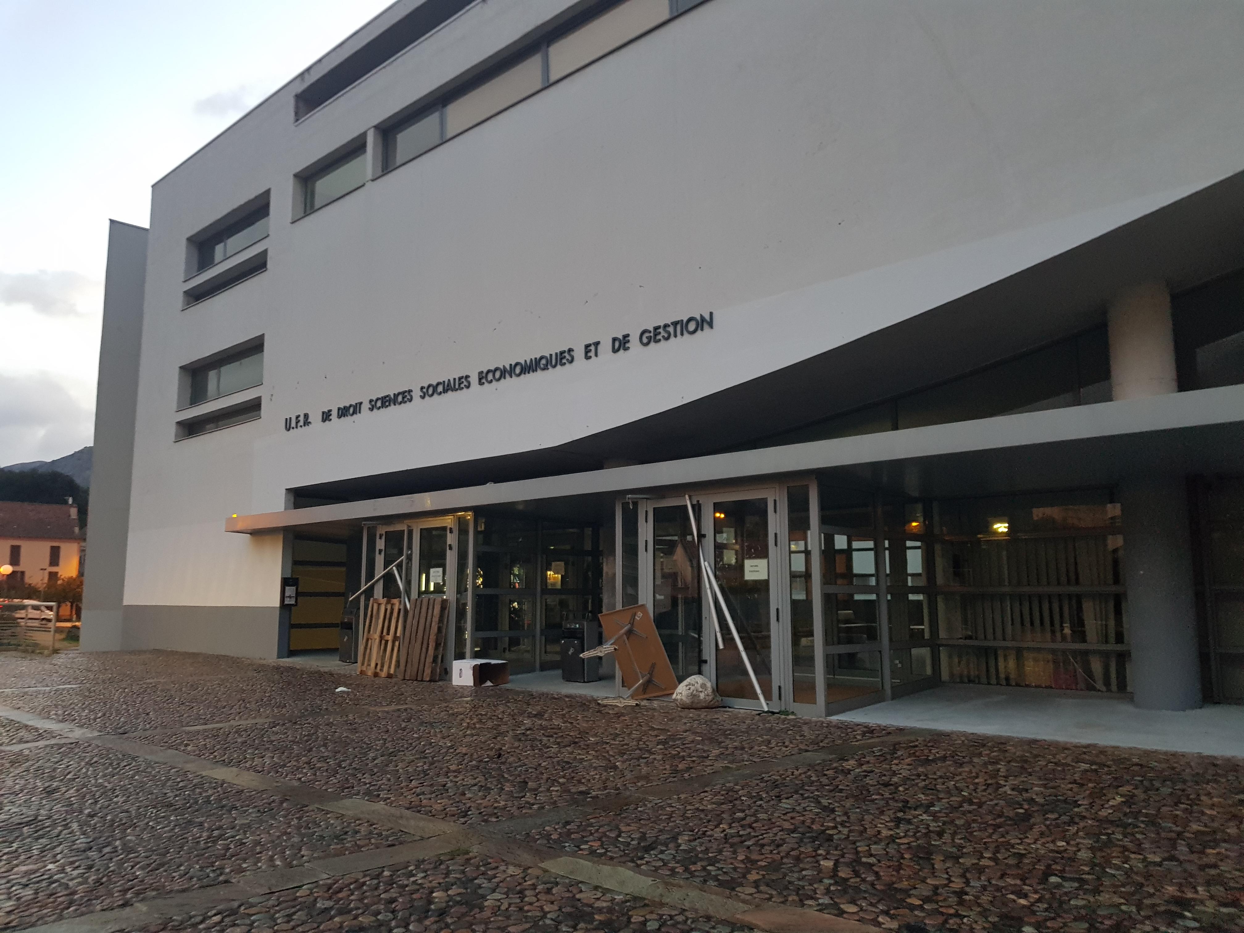 Corte : blocage à l'université de Corse