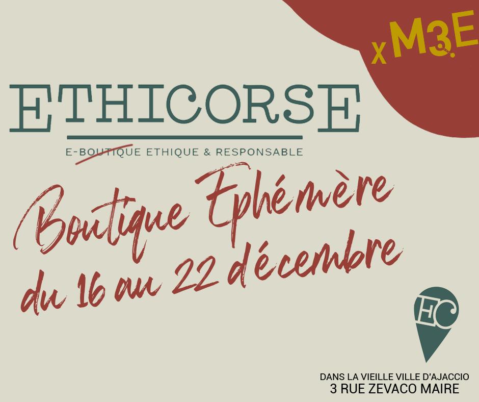 Ethi'Corse : la boutique  éphémère de la CAPA revient du 16 au 22 décembre