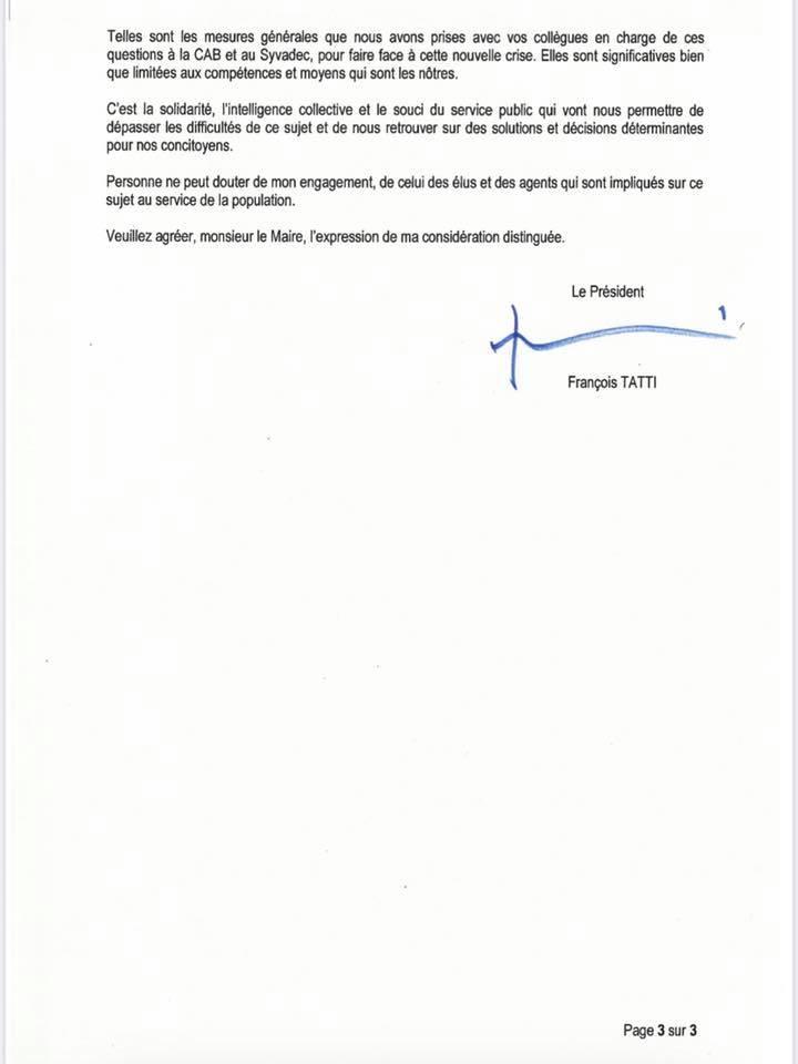 Collecte de déchets : La réponse de François Tatti au maire de Bastia