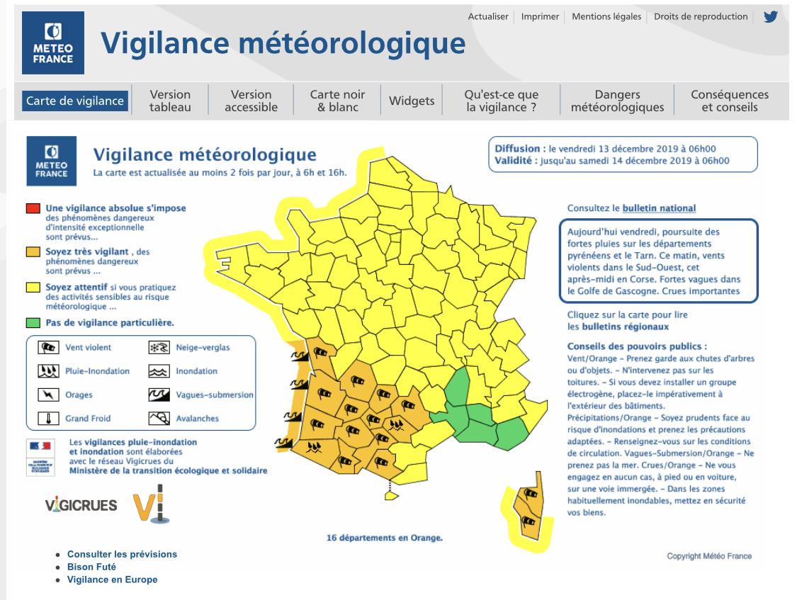 Vents violents : la Corse en vigilance orange
