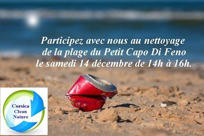 Ajaccio : Nettoyage de la plage du Petit Capu di Feno ce samedi