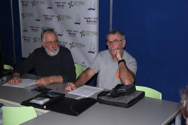 Jean-Pierre Longuet et Francis Raynaud respectivement président et trésorier de l'EVGSP