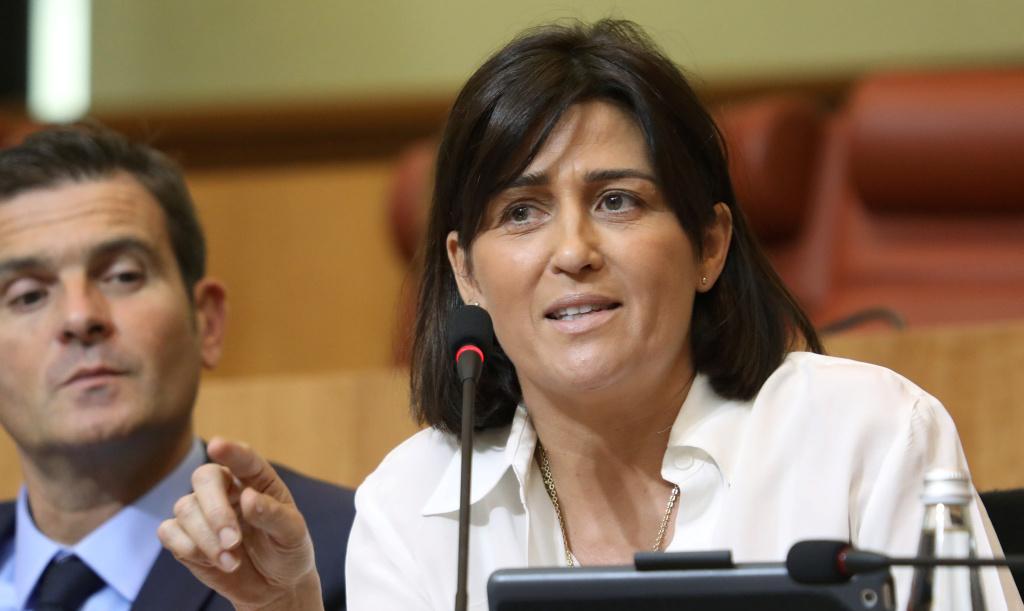 Christelle Combette, conseillère territoriale du groupe de droite Per L'Avvene. Photo Michel Luccioni.