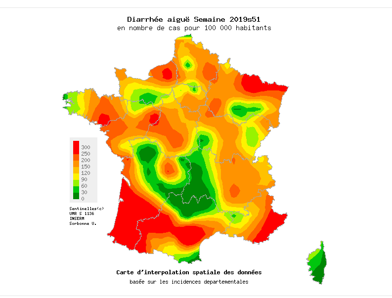 L'épidémie de gastro-entérite se propage en France. La Corse épargnée