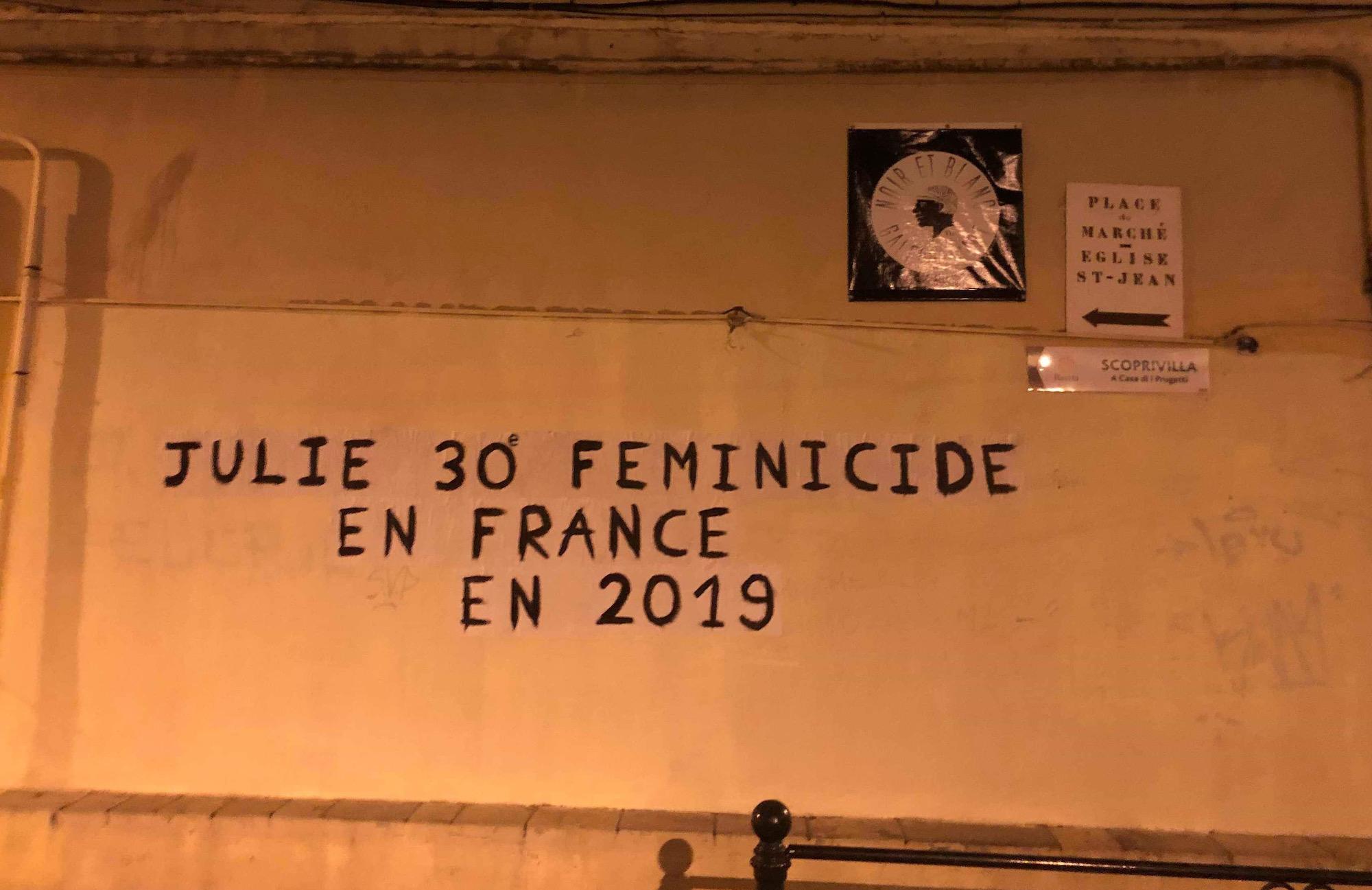 Bastia : Des collages dans les rues pour sensibiliser aux féminicides