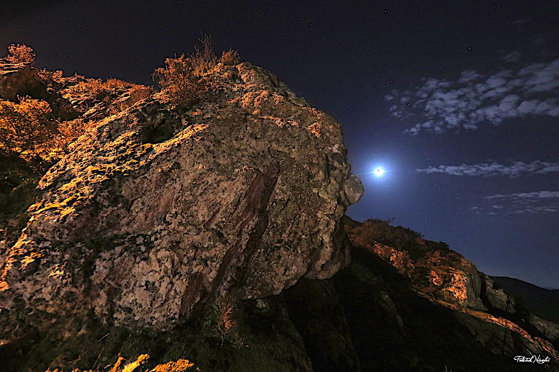 La photo du jour : visage de pierre en Alta Rocca