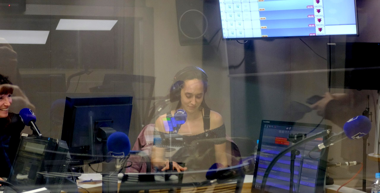 Caroline Poggi à RCFM en mars dernier pour l'avant-première de Jessica Forever