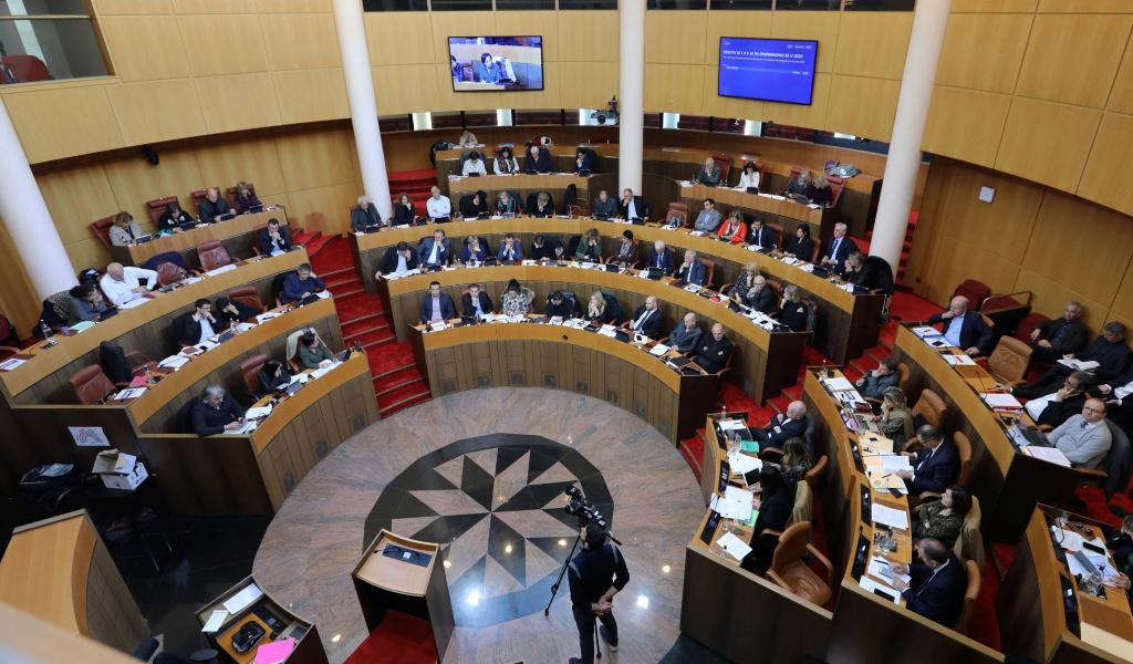 L'hémicycle de l'Assemblée de Corse à Aiacciu. Photo Michel Luccioni.