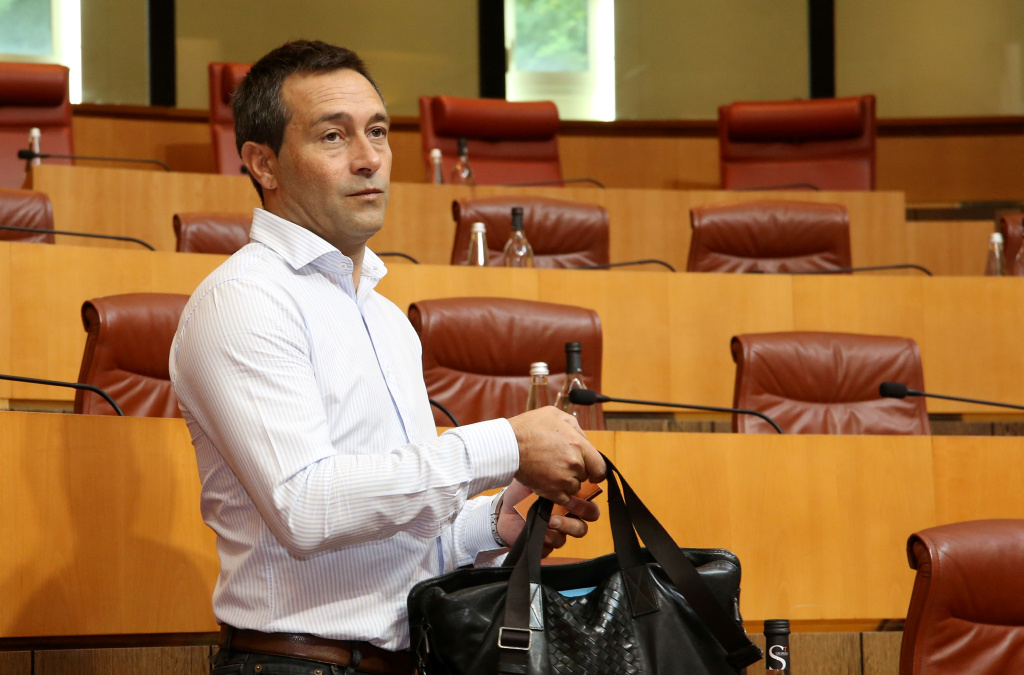 Jean-François Casalta, conseiller territorial du groupe PNC et candidat aux municipales d'Ajaccio. Photo Michel Luccioni.