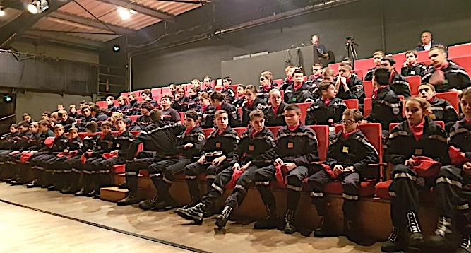 Corte : Premier rassemblement de l'année pour les jeunes sapeurs pompiers de Corse
