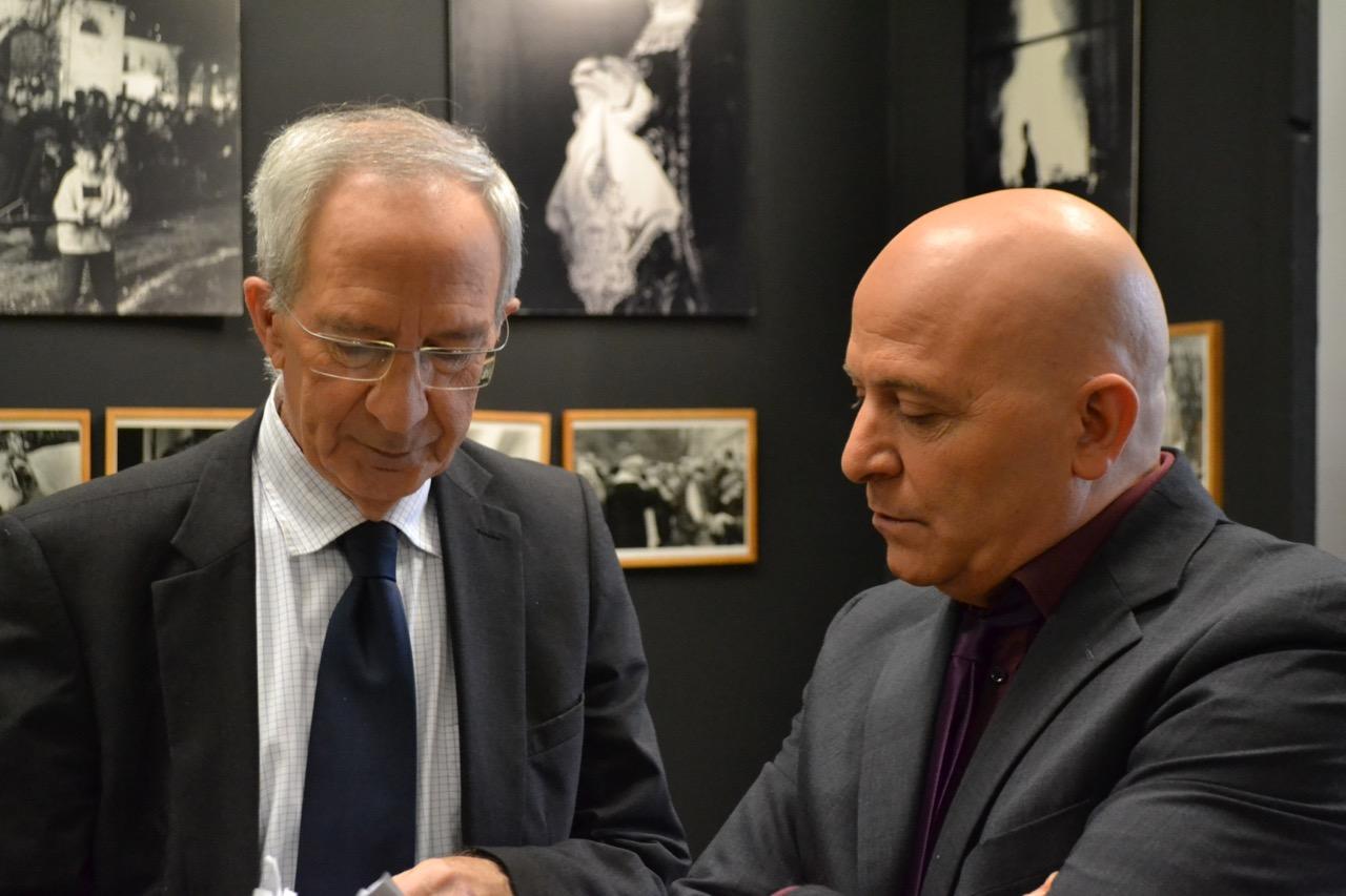Marc Riolacci avec Orlando Forioso au Festival de cinéma italien de Bastia