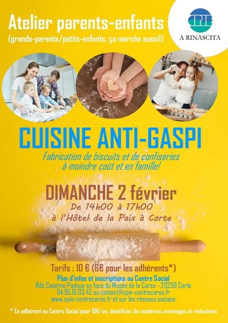 Corte : Un atelier cuisine parents-enfants ce 2 février