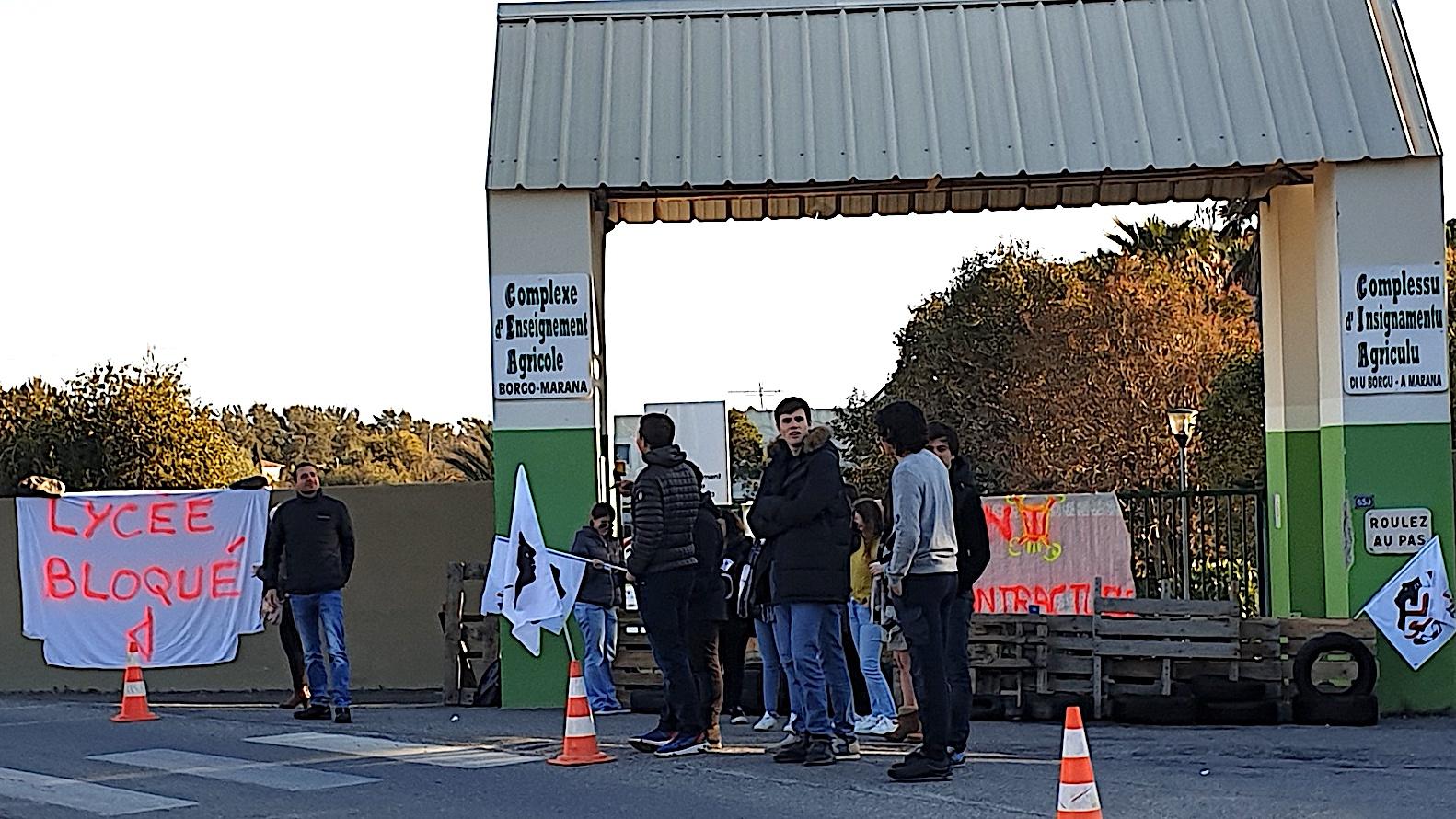 Suppression des postes contractuels aux lycées agricoles : les élèves de Sartène et Borgo bloquent leurs établissements