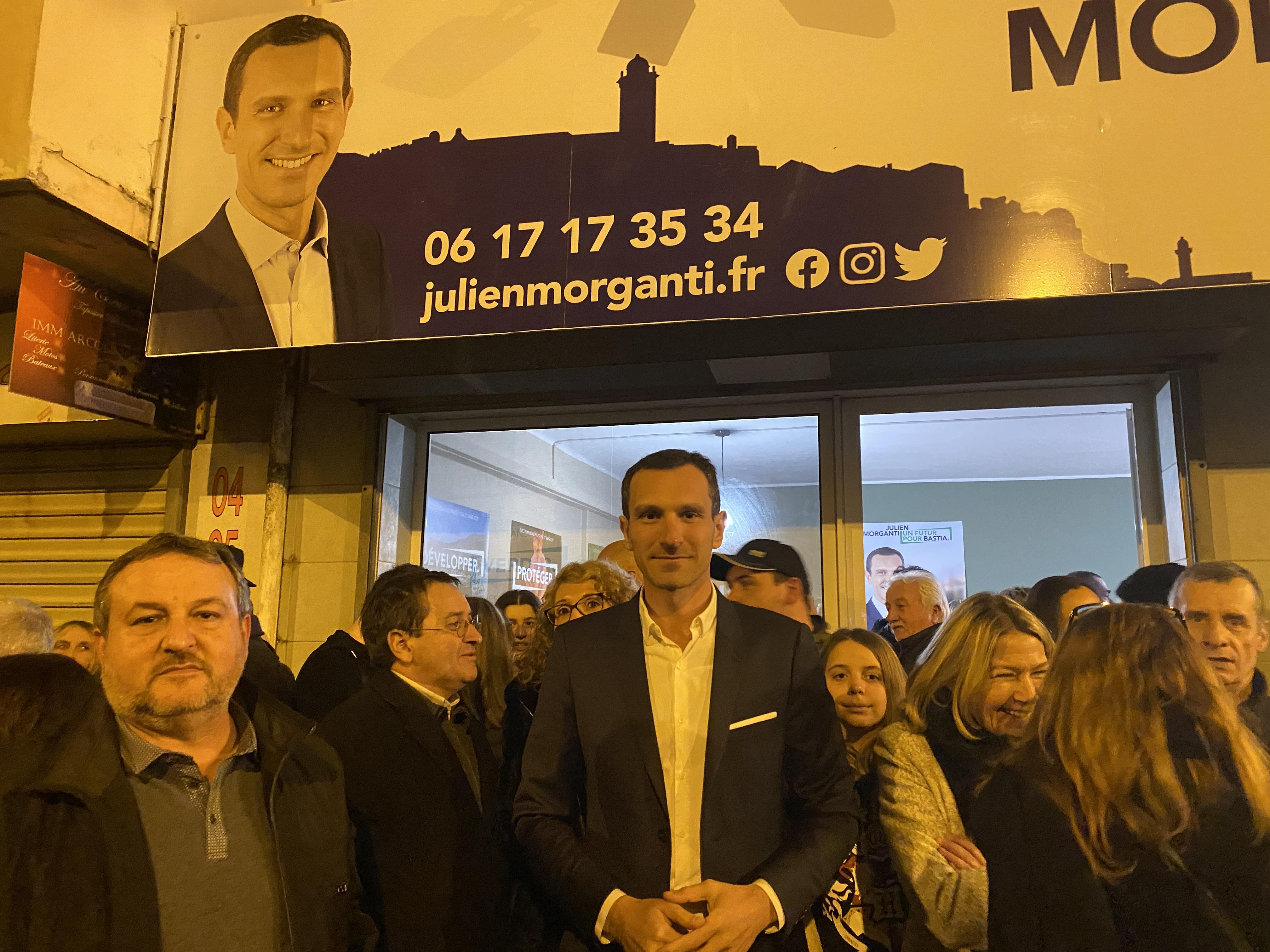 Julien Morganti inaugure sa permanence à Lupinu.