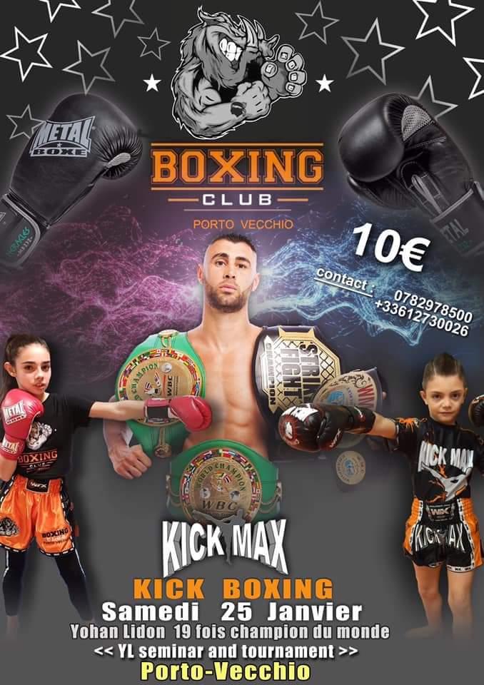 Kick Boxing : un champion du Monde à Porto-Vecchio
