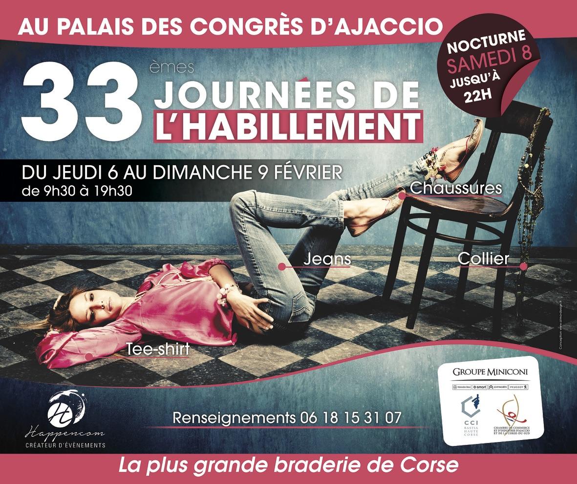 Journées de l'habillement : la grande braderie d'Ajaccio revient du 6 au 9 février