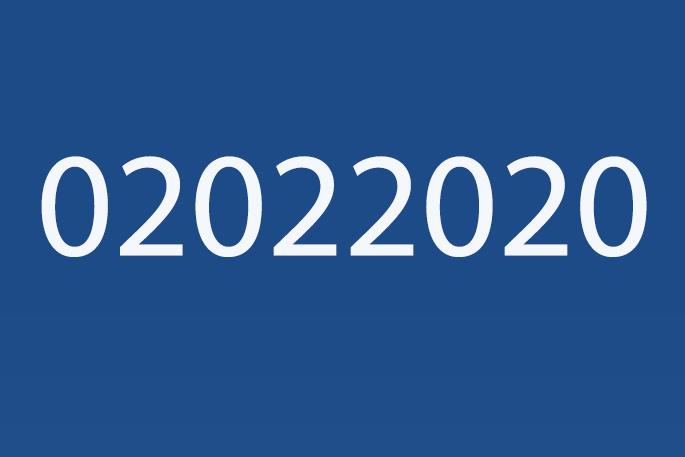 0202 2020, un jour palindrome. Il y en a que 366 tous les 10 mille ans