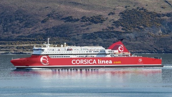Photomontage du SUPERFAST X de Stena Roro aux couleurs de CORSICA linea