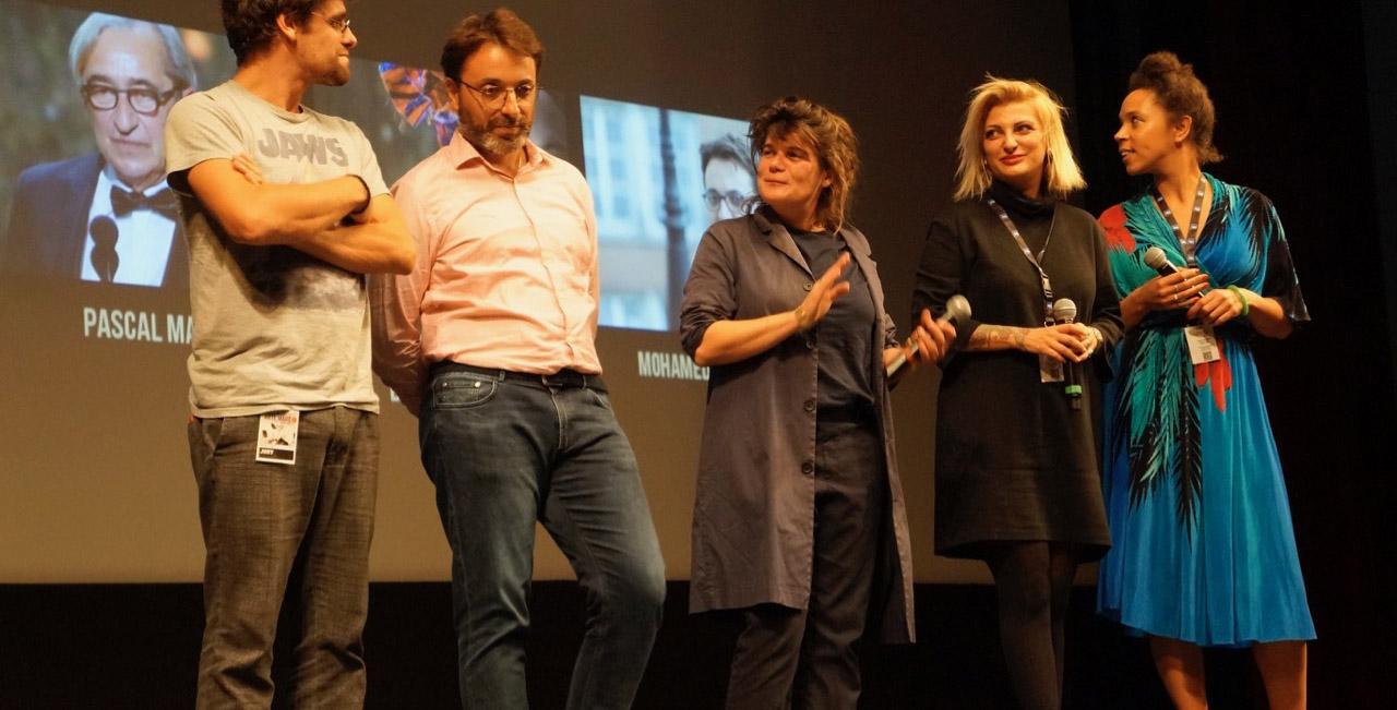 La productrice Marie-Ange Luciani, au centre, lors du dernier Festival Arte Mare