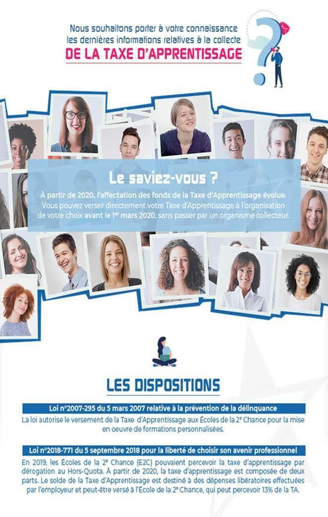 """Taxe d'apprentissage 2020. Ecole de la deuxième chance de Bastia : """"investissez pour la jeunesse """""""