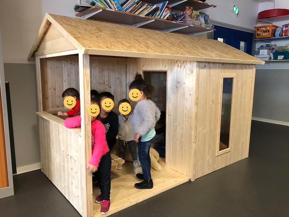 Une cabane pour les enfants de la pouponnière de Bastia