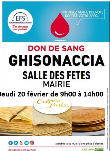 Ghisonaccia : Collecte de sang jeudi