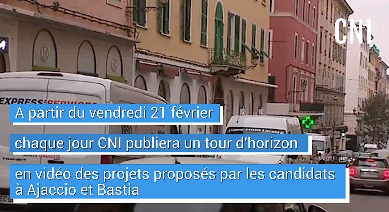 VIDEO - Municipales 2020 en Corse : à partir de ce vendredi, les projets des candidats thème par thème sur CNI