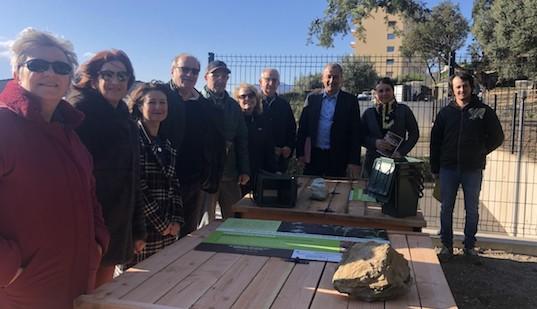 A Ville di Pietrabugno trois bacs de compostage partagés serviront à alimenter le jardin partagé créé en ce même lieu.