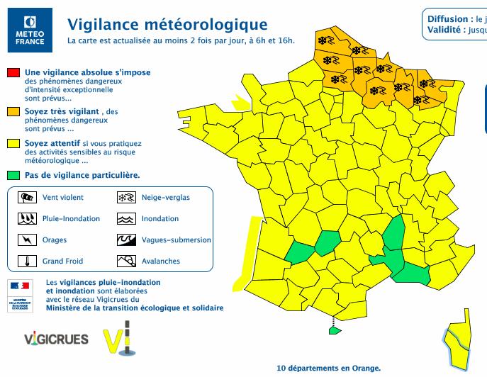 Vents violents  : la Corse de nouveau en jaune