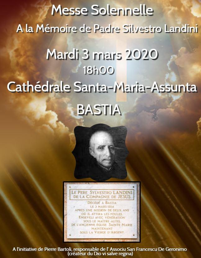 Bastia : Sainte Marie va célébrer Padre Silvestro Landini