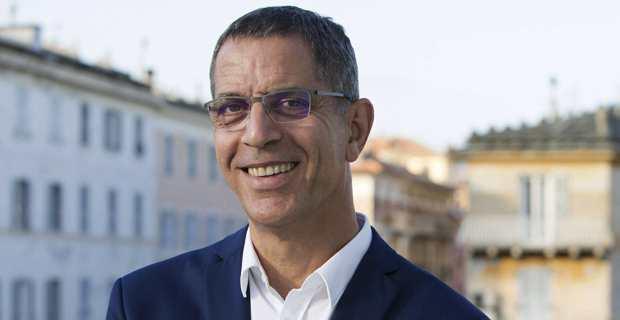 """Pierre Savelli, maire sortant de Bastia, candidat à l'élection municipale avec la liste """"Bastia Piu Forte Inseme"""". Photo Lea Eouzan."""